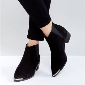 Asos Admission Pointed Toe Booties